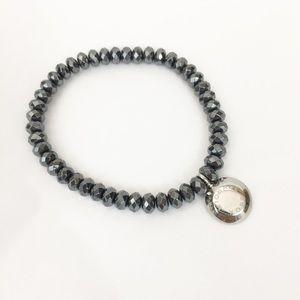 Michael Kors Brilliance Gunmetal beaded Bracelet